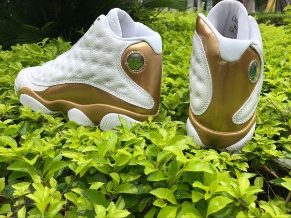 Jordan 13 Retro DMP WhiteMetallic Gold heel