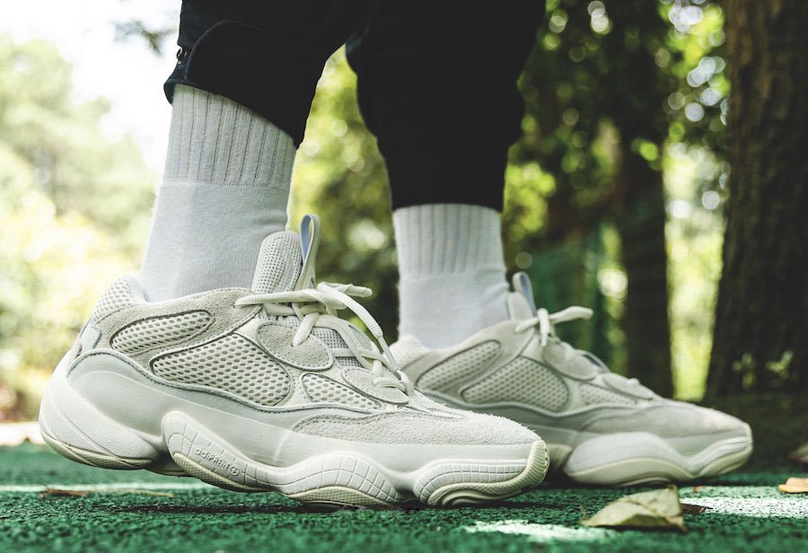 adidas Yeezy 500 Bone White FV3573 on feet look