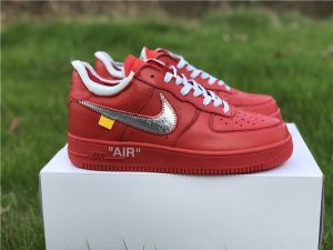 Air Force 1 Low X Off-White University Red Silver