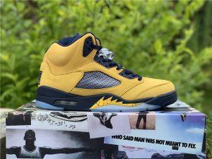 Air Jordan 5 Michigan Inspire 2019 Amarillo Yellow