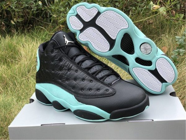 Black Island Green Air Jordan 13s