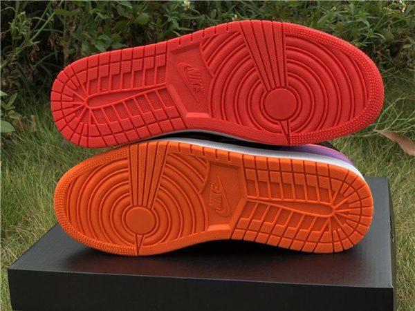 Nike Air Jordan 1 Mid Black Multi-Color Reflective red sole