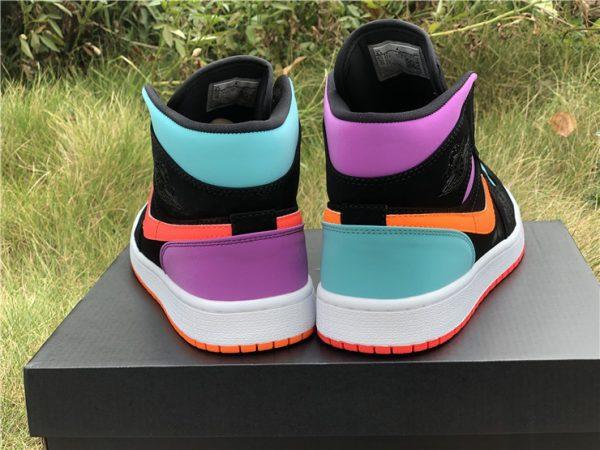 Nike Air Jordan 1 Mid purple green heel