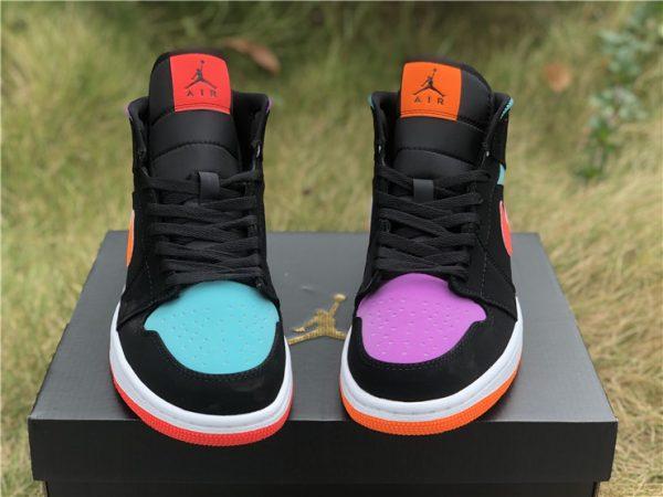 Nike Air Jordan 1 Mid purple green toe