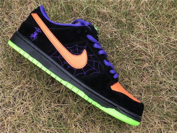 Nike SB Dunk Low Night of Mischief orange swoosh