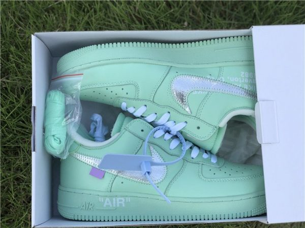 Off-White Air Force 1 Low Green in box