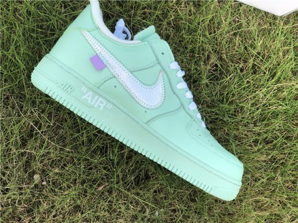 Off-White Air Force 1 Low Green side