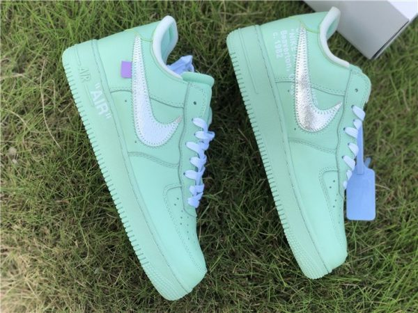 Off-White Air Force 1 Low Green swoosh
