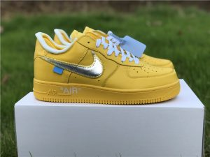 Off-White Air Force 1 Low Yellow Metalic Silver