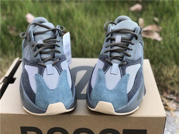 Adidas Yeezy Boost 700 Teal Blue upper look