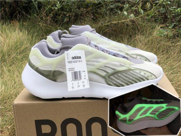 adidas Yeezy 700 V3 White Grey Green