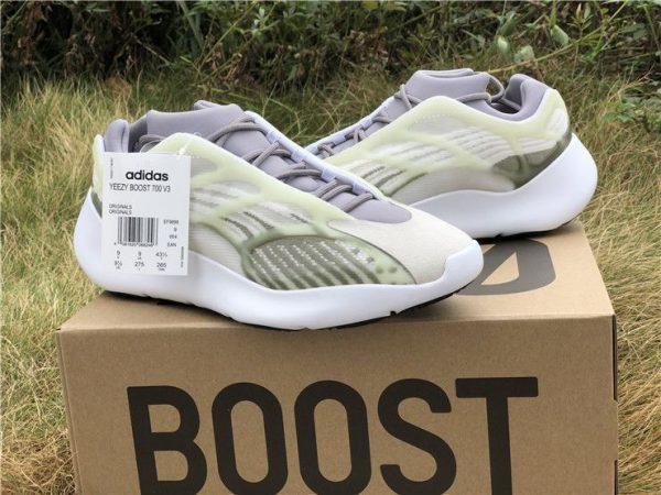 adidas Yeezy 700 V3 White Grey Green original box