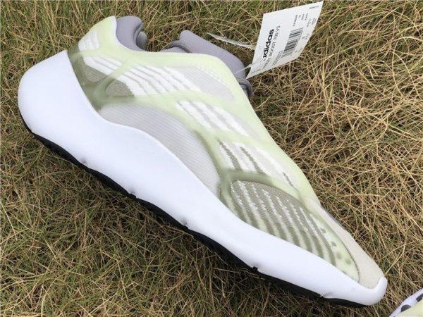 adidas Yeezy 700 V3 White Grey Green panel
