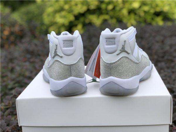 womne WMNS Air Jordan 11 XI Metallic Silver heel