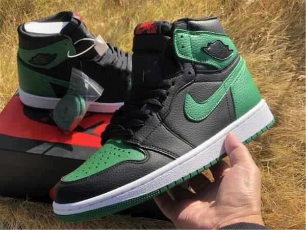 Air Jordan 1 High OG Black Pine Green on hand look