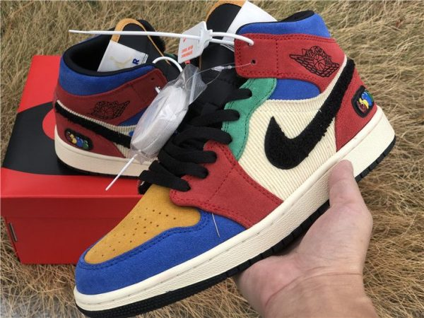 Blue the Great x Jordan 1 Mid SE Fearless red