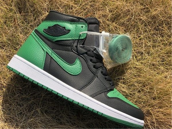 mens Air Jordan 1 High OG Black Pine Green
