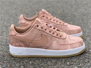 Clot x Nike Air Force 1 Low Rose Gold Silk