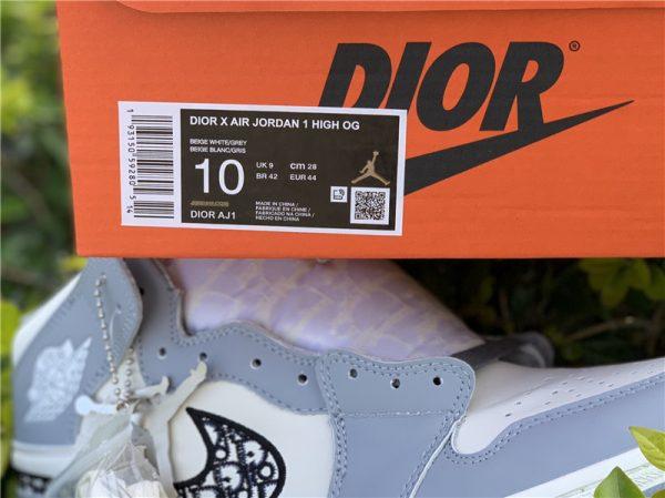 New Air Jordan 1 Dior High OG 2020 box tag