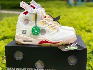 Virgil Off-White x Air Jordan 5 White