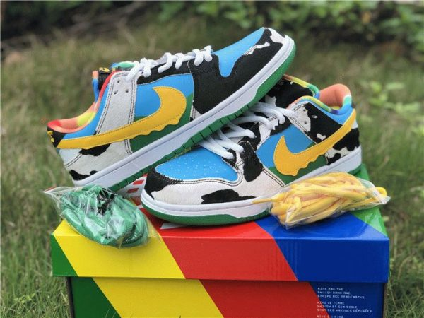 Ben Jerrys Nike SB Dunk Low Chunky Dunky shoelace