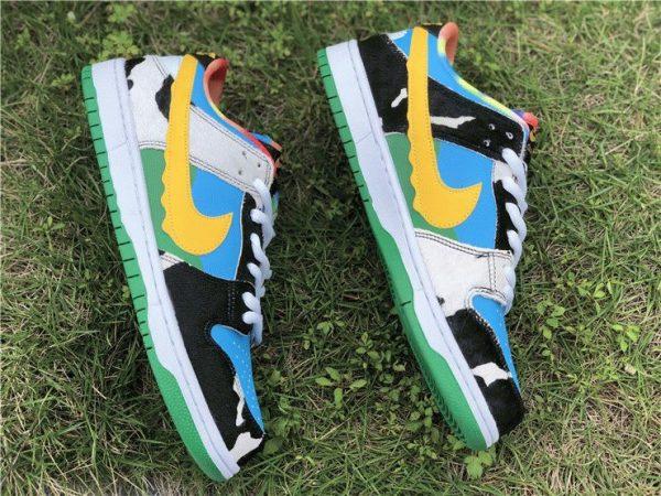 Ben Jerrys Nike SB Dunk Low Chunky Dunky yellow swooh