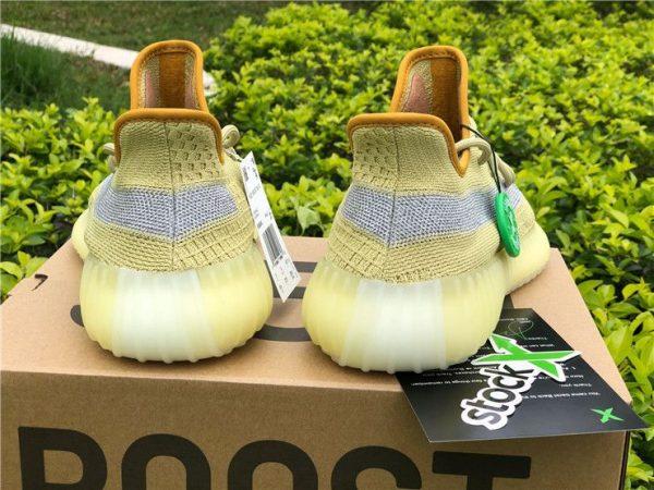 adidas Yeezy Boost 350 V2 Marsh yellow heel