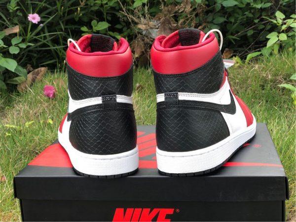 Air Jordan 1 High OG Satin Snake black red heel