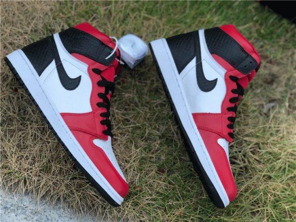 Air Jordan 1 High OG Satin Snake black swoosh