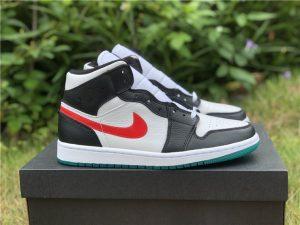 Air Jordan 1 Mid Lucid Green Alternate Swooshes