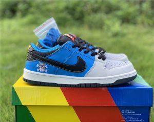 Nike SB Dunk Low x Instant Skateboards Grey Blue