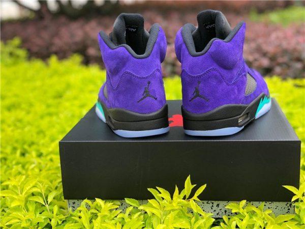 2020 Air Jordan 5 Retro Alternate Grape 136027-500 Heel