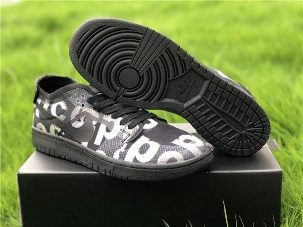 2020 COMME des GARCONS x Nike Dunk Low Black CZ2675-001