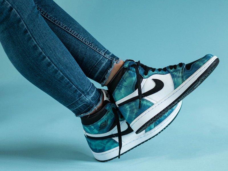 Air Jordan 1 Retro High Tie Dye On Feet