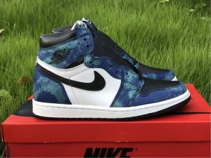 Air Jordan 1 Retro High Tie Dye White Black-Aurora Green CD0461-100