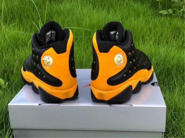 Air Jordan 13 PE Oregon Track and Field Black Yellow Heel