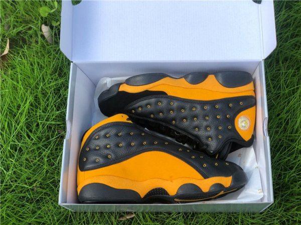 Air Jordan 13 PE Oregon Track and Field Black Yellow Top