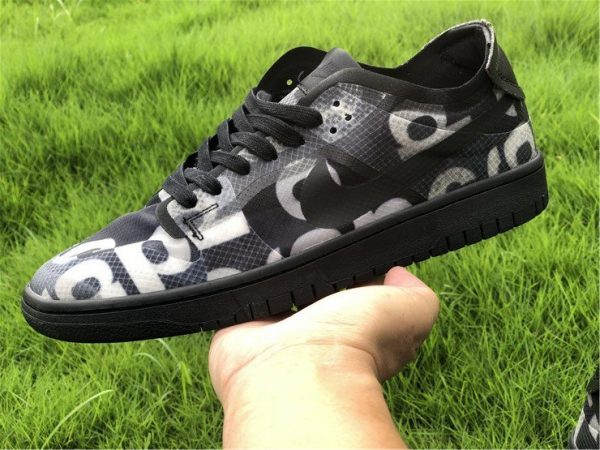 CDG x Nike Dunk Low Black CZ2675-001 On-Hand