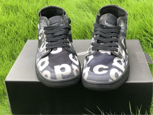 COMME des GARCONS x Nike Dunk Low Black CZ2675-001 Front