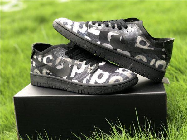 COMME des GARCONS x Nike Dunk Low Black CZ2675-001 Pair