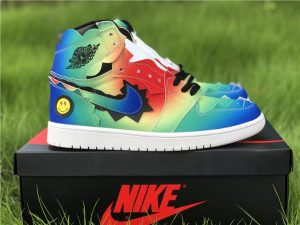 J Balvin x Air Jordan 1 High Multi-Color Black-Pink Foam