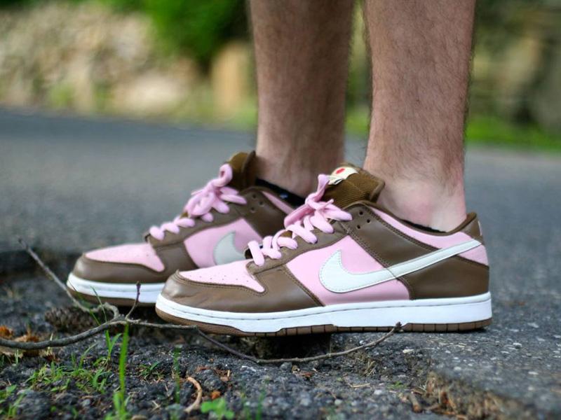 Nike Dunk SB Low Stussy Cherry On Feet