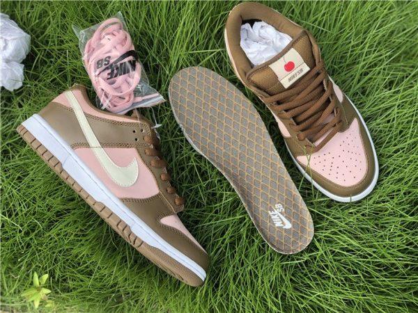 Nike Dunk SB Low Stussy Cherry Shy Pink Vanilla Pair