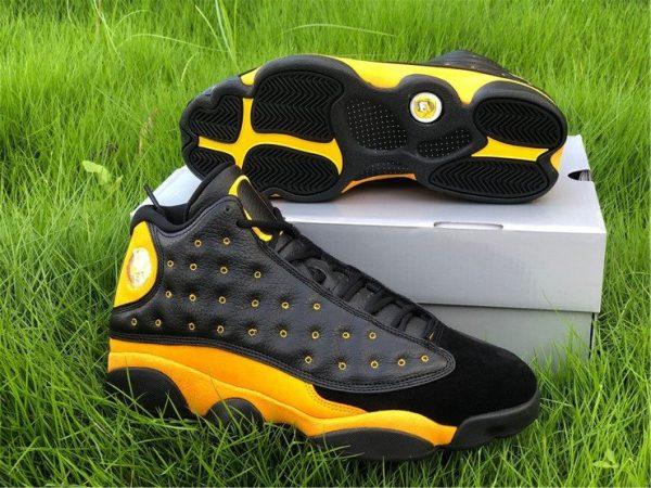 Shop Air Jordan 13 PE Oregon Track and Field Black Yellow