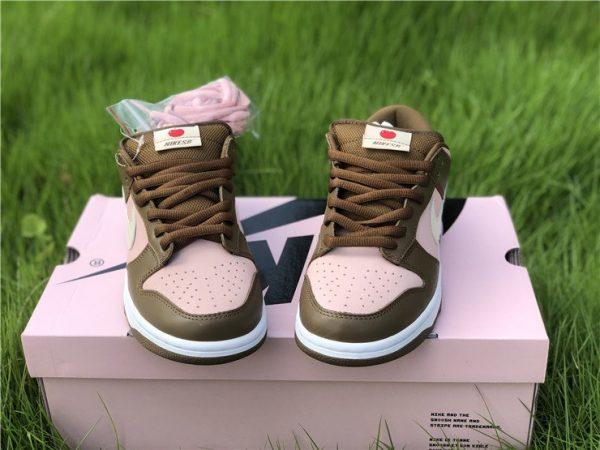 Stussy x Nike Dunk Low Pro SB Cherry Shy Pink Vanilla 304292-671 Front