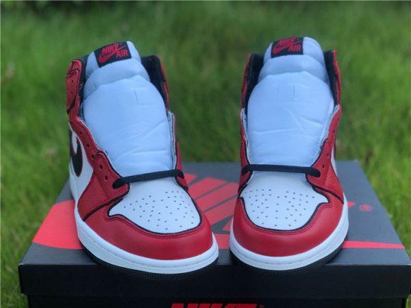 2020 Air Jordan 1 High OG Bloodline 2.0 Red White Black Front