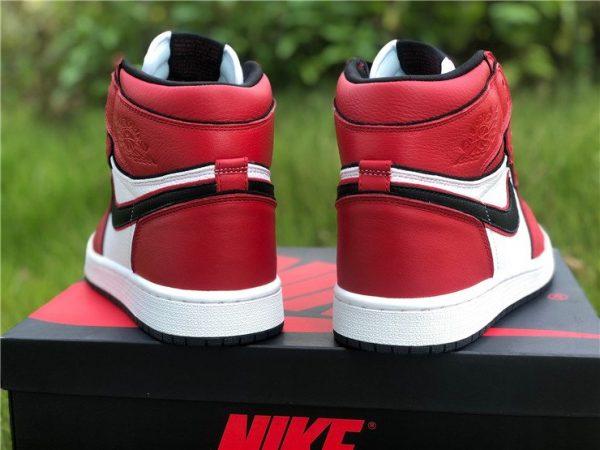 2020 Air Jordan 1 High OG Bloodline 2.0 Red White Black Heel