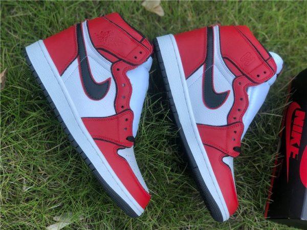 2020 Air Jordan 1 High OG Bloodline 2.0 Red White Black Top