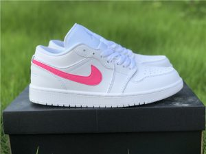 GS Air Jordan 1 Low pink Swoosh