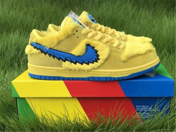 Nike SB Dunk Low Grateful Dead Bears In Yellow CJ5378-700